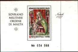 91712) SMOM - Natale 1977 - Sovrano Militare Ordine Di Malta - 2 SCUDI BF 11-MNH** - Sovrano Militare Ordine Di Malta