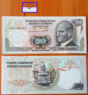 Turkey 50 Lira 1970 The Prefix I (in The Upper Part There Is An Ink Stroke From The Pen) UNC - Turquie