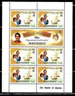 "Montserrat       ""Royal Wedding""       3 Sheets Of 7       SC#465-70       MNH      SCV$ 19.55 - Montserrat"