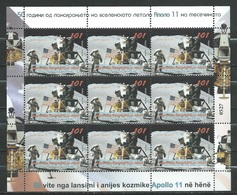 MACEDONIA NORTH  NEW 2019 50 Year Of Apollo 11 In Space USA SS MNH *** - Space