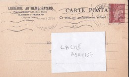 Carte Postale Librairie Arthème Fayard Clermont Ferrand 1943 Pétain  RV - Andere