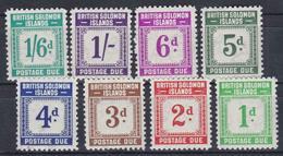 COLONIE INGLESI ISOLE SOLOMON 1940 Serie Segnatasse 8v, Nuovi Con Gomma Integra , MNH** - Iles Salomon (...-1978)