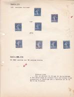 AN 1932-1937 No 279-SEMEUSE SUR FOND PLEIN DENTELES 14x 13 1/2  - BLEUP - France