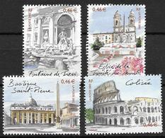 France 2002 N° 3527/3530 Neufs Rome Sous Faciale - France