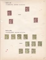 AN 1932-1935 No 284 & 284A-TYPE LAURENT DIX PAIX - BLEUP - France
