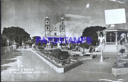 109228 MEXICO CIUDAD DEL CARMEN CAMPECHE JARDIN Y KIOSCO POSTAL POSTCARD - Mexique