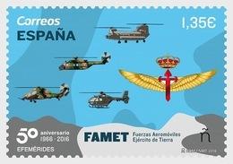Spain 2018 - 50th Anniversary Army Aeromobile Forces Mnh - 2011-... Nuevos & Fijasellos