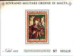 91724)  SOVRANO MILITARE ORDINE DI MALTA NATALE-1972. - BF 5-MNH** - Sovrano Militare Ordine Di Malta