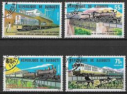 GIBUTI 1979 FERROVIA DA GIBUTI A ADDIS-ABEBA YVERT. 491-494 USATA VF - Djibouti (1977-...)