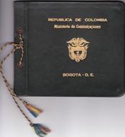 XV CONGRESO  DE LA UNION POSTAL UNIVERSAL  MAYO 1964 SOUVENIR DE LUXO COLOMBIA AÑO 1964 CUERO COIRO LEATHER - BLEUP - Colombia
