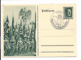 DR P 264-03 - 6 Pf Reichsparteitag Einmarsch Mit Sonderstempel München Staatstreffen Mussolini-Hitler - Deutschland