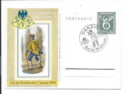 DR P 289 - 6 Pf Posthorn Klapperpost M. Bl. Sonderstempel Danzig -  Tag Der Briefmarke - Deutschland