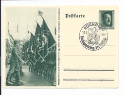 DR P 264-02 - 6 Pf Reichsparteitag Vorbeimarsch Mit Bl. Sonderstempel Nürnberg - Deutschland