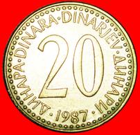 # FIRST INFLATION (1985-1987): YUGOSLAVIA ★ 20 DINAR 1987 MINT LUSTER! LOW START ★ NO RESERVE! - Yougoslavie