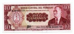 PARAGUAY=1952   10  GUARANIES   P-196    UNC - Paraguay