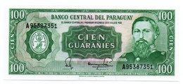 PARAGUAY=1952   100  GUARANIES   P-205    UNC - Paraguay