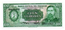 PARAGUAY=1952   100  GUARANIES   P-205b    UNC - Paraguay