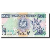 Billet, Tanzania, 500 Shilingi, Undated (1997), KM:30, NEUF - Tanzanie