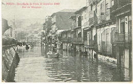 POSTCARDS-- PORTUGAL-PORTO - RECORDAÇÃO DA CHEIA  ,DEZEMBRO DE 1909--RUA DE MIRAGAIA - Porto