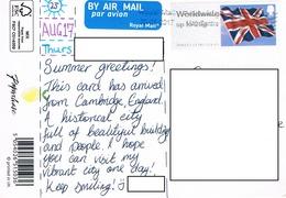 24H : United Kingdom Flag Prepaid Label Stamp Used On Lemon Slogan Postcard - 1952-.... (Elizabeth II)