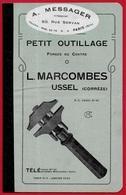 Tarif 1924 Petit Outillage L. MARCOMBES 19 USSEL Corrèze FORGES Du CENTRE Représentant A. Messager 75011 Paris - Vieux Papiers