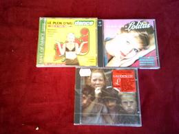 COLLECTION DE 3 CD ALBUMS  DE COMPILATION ° SONG THE LOLITAS  DOUBLE ALBUM + KALE1DOSCOPE + NRJ  BEST 1995 - Musique & Instruments