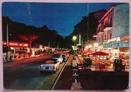 MILANO MARITTIMA (Ravenna) - Viale Matteotti Di Notte - By Night - Auto Cars Bridge's Bar Pizzeria  Vg - Ravenna