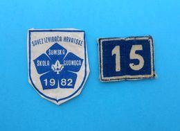 CROATIAN SCOUTS UNION 1982. - Lot Of 2. Vintage Patches * Scouting Boy Scout Scoutisme Escrutinio Pfadfinder Scoutismo - Scoutisme