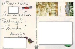 24H : Portugal Ceiling Decorative Queluz Building Stamp Used On Lisboa Tiles Postcard - 1910-... Republic
