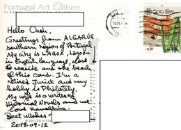 24H : Portugal Maldeira Porto Santo Stamp Used On Senhora Da Rocha Beach Postcard - 1910-... Republic