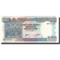 Billet, Burundi, 500 Francs, 2003, 2003-07-01, KM:38c, NEUF - Burundi