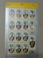 Malaysia 2017 15v Stamp Coronation KDYMM YDP Agong XV Royal Sheet Sheelet In Vertical Format 2019 Mnh - Malaysia (1964-...)