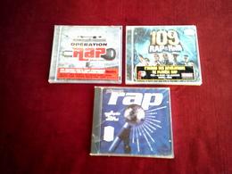 COLLECTION DE 3  CD ALBUM  DE RAP ° 109 RAP & RNB + PLANET RAP + OPERATION RAP - Musique & Instruments