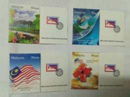 Malaysia 2007 50 Sen Personalised Stamps Setemku Philately Mnh Set 4v Business Earth Rural Scene National Flag Hibiscus - Malaysia (1964-...)