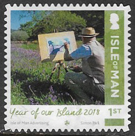 Isle Of Man 2018 Year Of Our Island 1st Type 5 Self Adhesive Good/fine Used [39/32040/ND] - Isle Of Man