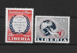 LOTE 1875  ///  (C015)  LIBERIA 1960 - YVERT Nº 373 + PA 125 - ONU  **MNH    ¡¡¡¡LIQUIDATION !!!! - Liberia