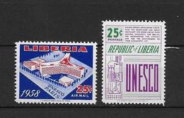 LOTE 1875  ///  (C015)  LIBERIA 1958 - YVERT Nº 373 + PA 117  **MNH    ¡¡¡¡LIQUIDATION !!!! - Liberia