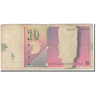 Billet, Macédoine, 10 Denari, 2003, KM:14d, B+ - Macédoine
