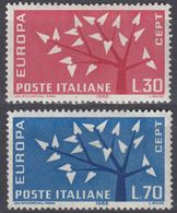 ITALIA - ITALIE - 1962 -  Serie Completa Nuova MNH: Yvert 873/874, 2 Valori, Europa. - 1946-.. République