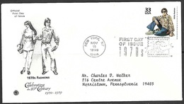 US 1999  Celebrate The Century  1970s Fasdhion On FDC - Premiers Jours (FDC)