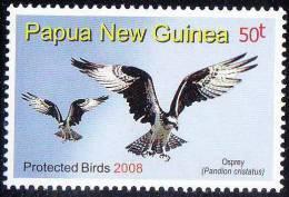 Papua New Guinea 2008 MNH, Osprey, Sea Hawk, Fish Eagle, Raptor, Fish-eating Bird Of Prey - Aigles & Rapaces Diurnes
