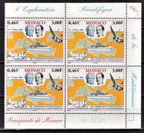 MONACO 2001 - BLOC DE 4 TP / N°2318 - NEUFS** COIN DE FEUILLE / DATE - Monaco
