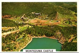 New Mexico Gallinas Canyon Aerial View With Montezuma Castle In Background - Etats-Unis