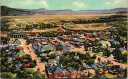 New Mexico Raton Birds Eye View From Goat Hill 1937 Curteich - Etats-Unis