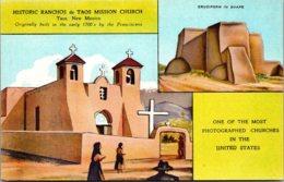 New Mexico Taos Historic Ranchos De Taos Mission Church - Etats-Unis