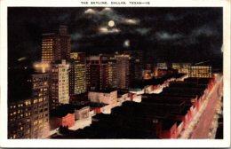Texas Dallas Skyline At Night - Dallas