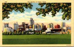 Texas Dallas Skyline Curteich - Dallas