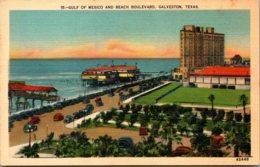 Texas Galveston Gulf Of Mexico And Beach Boulevard - Galveston