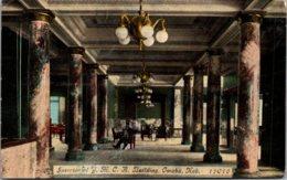 Nebraska Omaha Y M C A Building Interior 1915 - Omaha