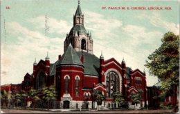 Nebraska Lincoln St Paul's Methodist Episcopal Church 1908 - Lincoln